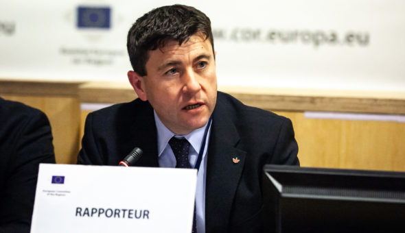 2 April 2019, 23rd SEDEC Commission meeting Belgium – Brussels – April 2019 © European Union / Giedre Daugelaite  Csaba BORBOLY, President of Harghita County Council